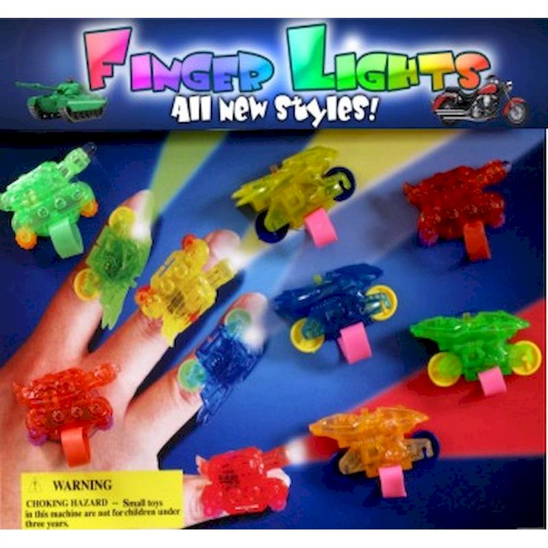 30-FGLTC2 - Tanks & Motorcycles Finger Lights in 2 inch Capsules (250 ct)