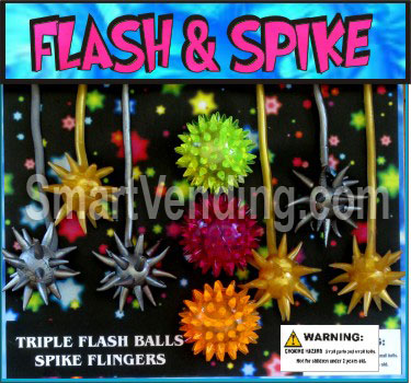 30-FLSPKC2 - Triple Flash & Spike Flingers in 2 inch Capsules (250 ct.)