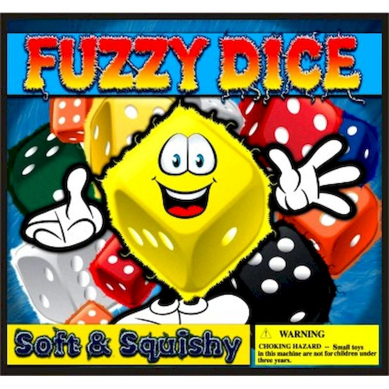 30-FZDCC2 - Fuzzy Dice in 2 inch Capsules (250 ct.)