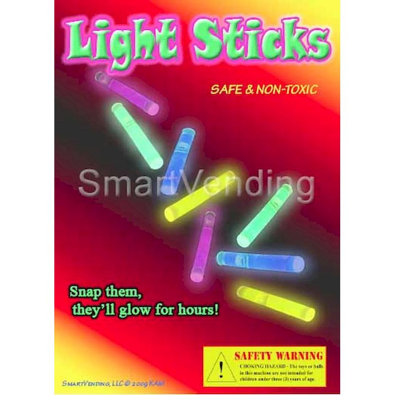 MIGLC1 - Mini Glow Sticks Mix in 1.1 inch Capsules (250 ct.)