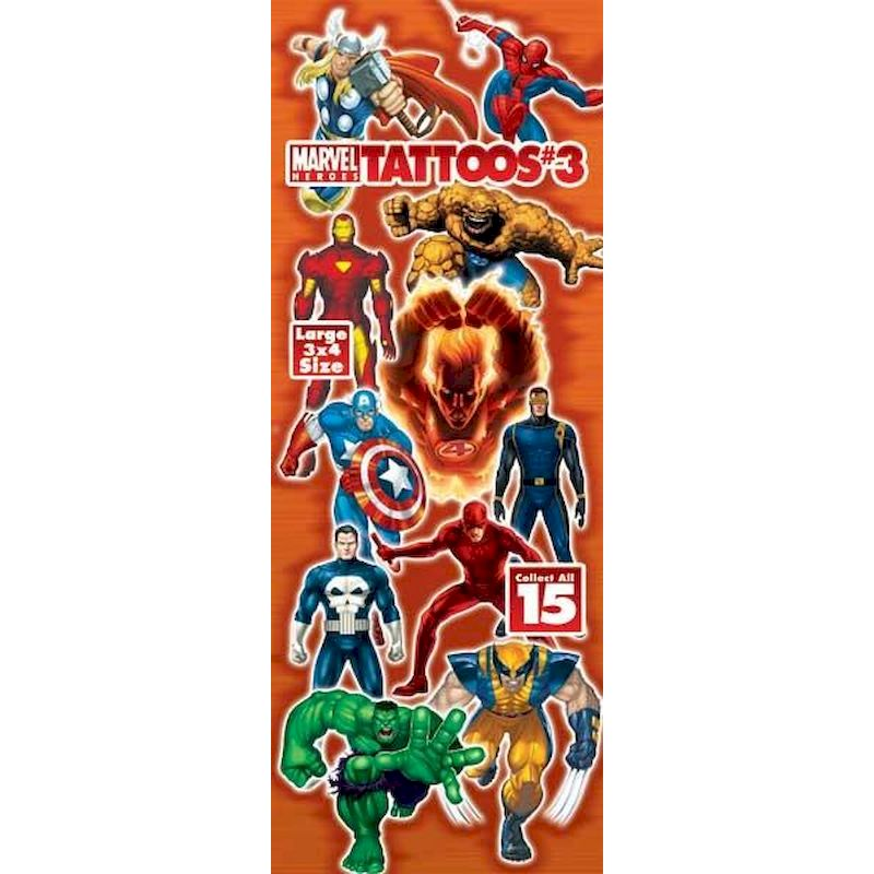 DMAHET3 - Display for Marvel Hereos Tattoos #3