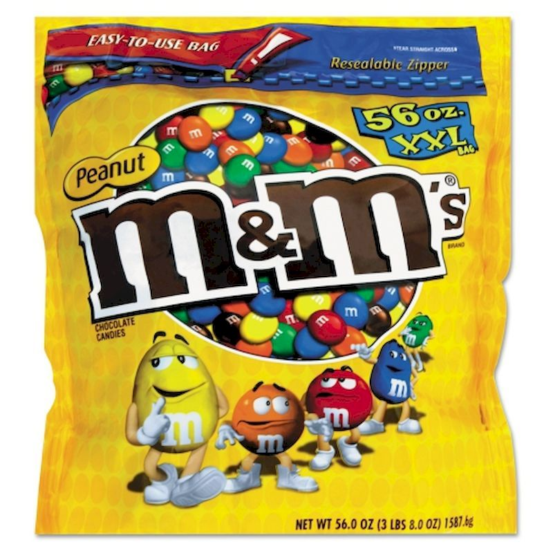 21-21403 - M&M's Peanut Candy 56oz XXL Bag FREE SHIPPING!!!