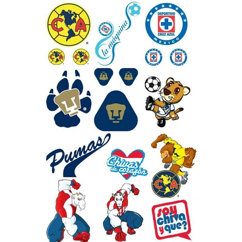MXFBT - Mexican Football Tattoos (300 ct.) FREE DISPLAY!!!