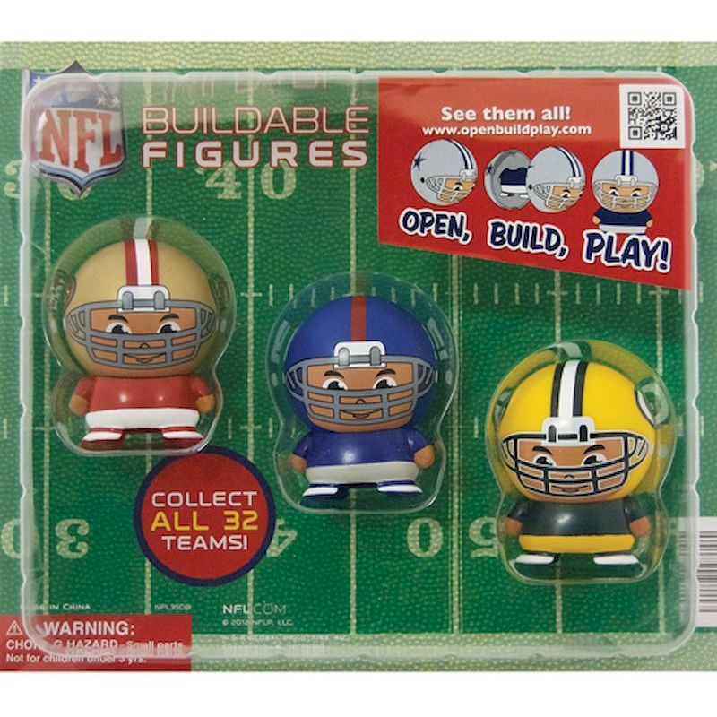 30-NFLBFC2 - NFL Capsule Buildable Players in 2 inch Capsules (250 ct.)