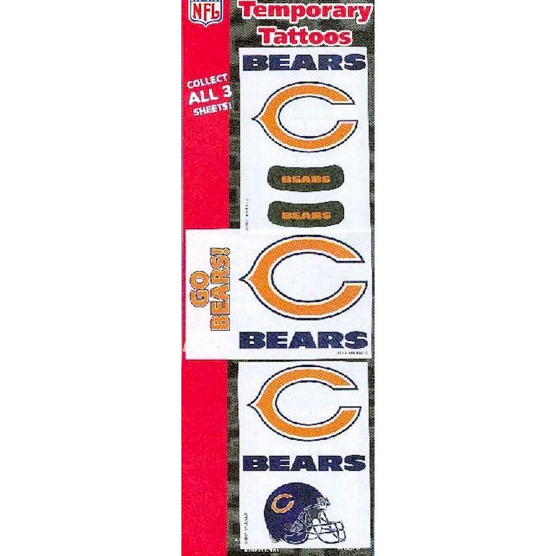 NFLCBTA - NFL Chicago Bears Tattoos w/Free Display Card