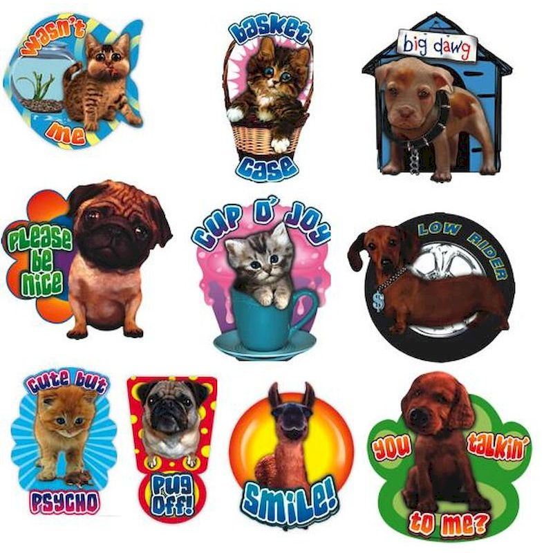 PET3D - Pet Shop 3-D Stickers in Folders (300 ct.)