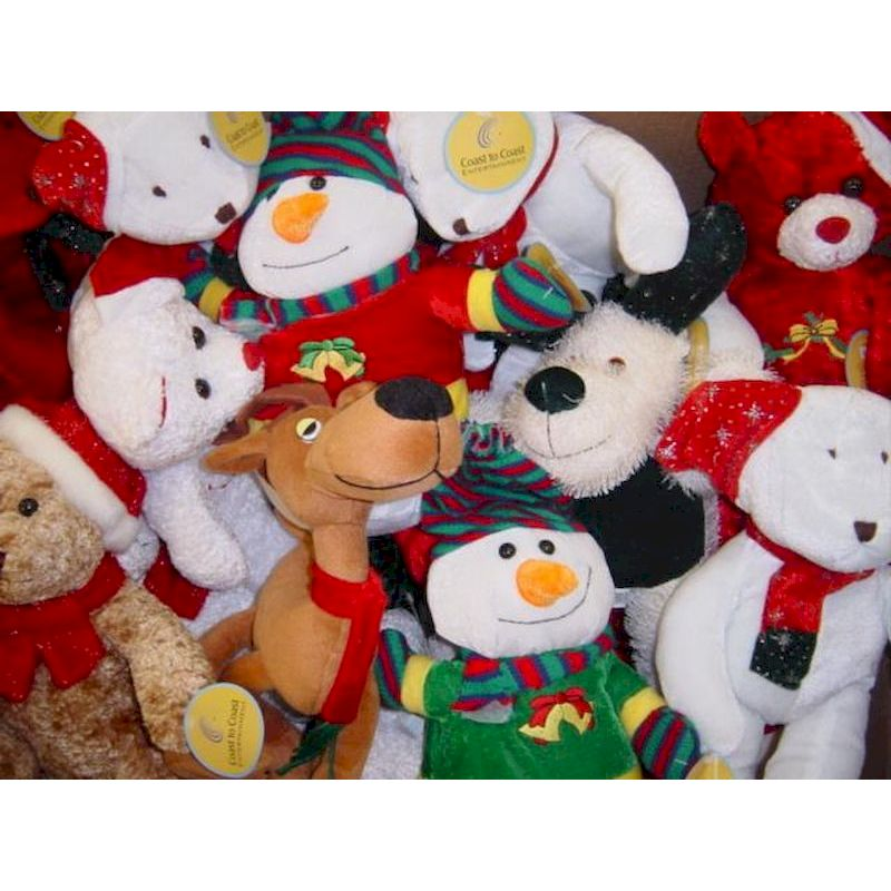 PLGENJX12-19 - Crane Jumbo Christmas Plush Mix (12-19 inch) Avg. $2.50 Ea.