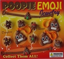 30-POEMJC2 - Poopie Emoji Jewelry in 2 inch Capsules (250 ct.)