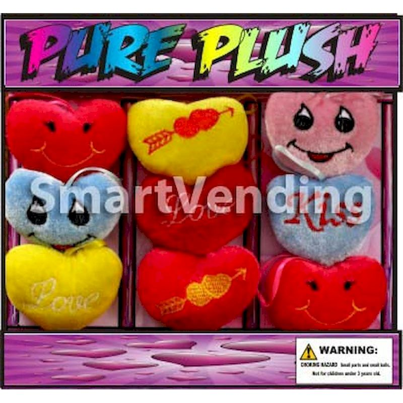 30-PRPLC2 - Pure Plush Hearts in 2 inch Capsules (250 ct.)