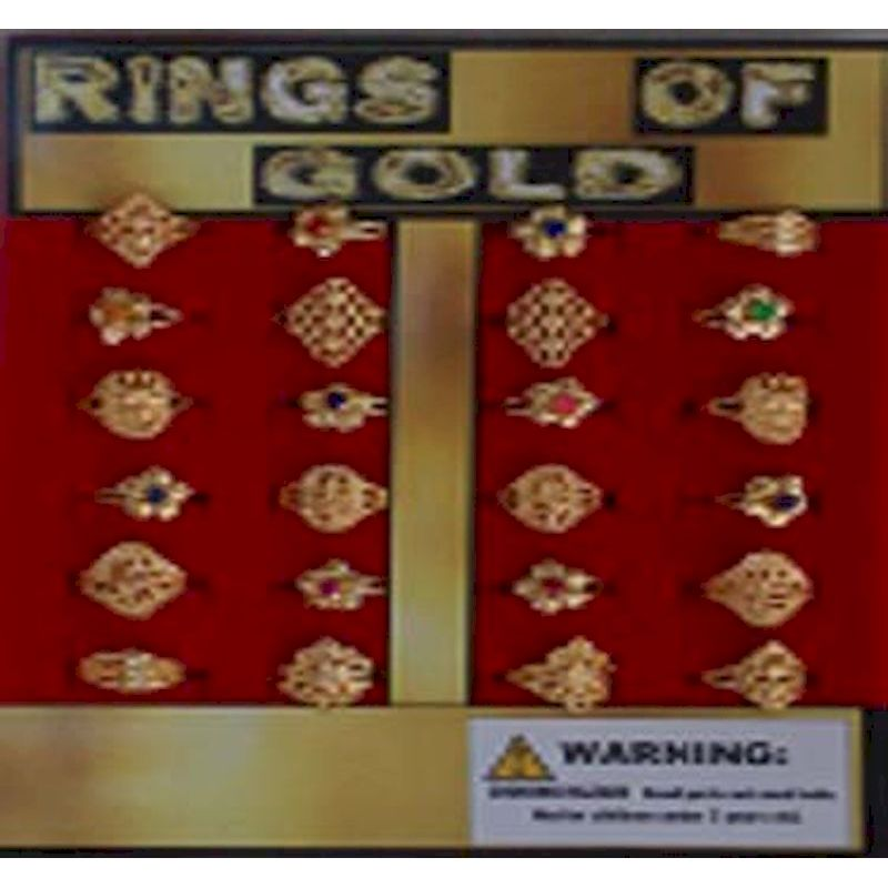 30-RGGOC1 - Rings of Gold  in 1.1 inch Capsules (250 ct.)