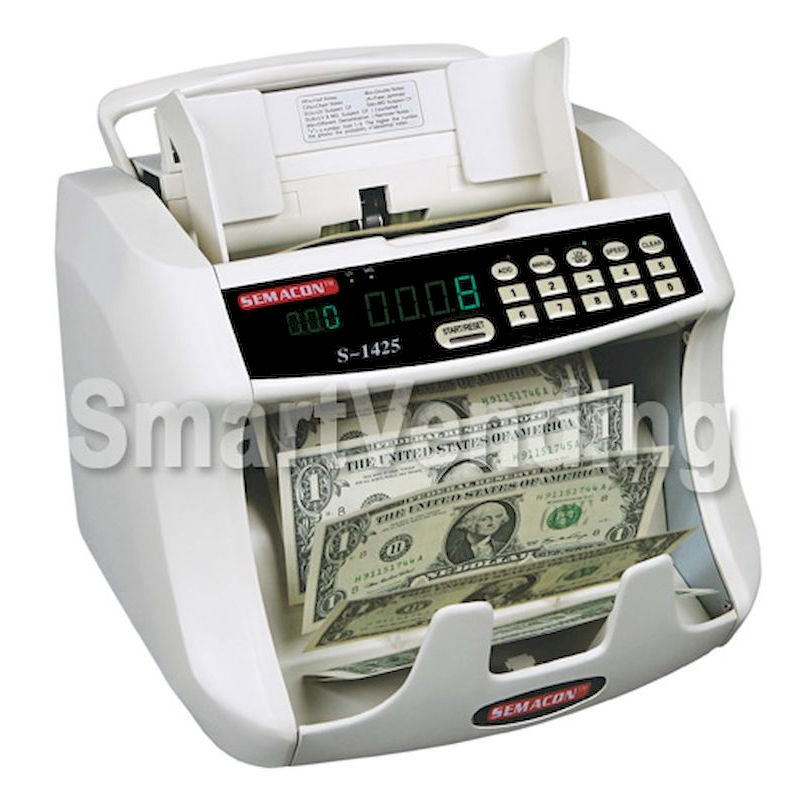 S-1400 Series - Table Top Bank Grade Currency Counter with Batching, 600-1500 npm