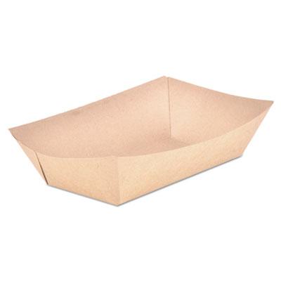 SCT Food Trays Paperboard Brown Kraft 5-Lb Capacity 500/Carton