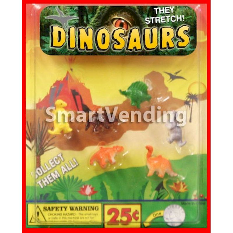 30-STRDINC1 - Stretchy Dinosaurs in 1.1 inch Capsules (250 ct.)