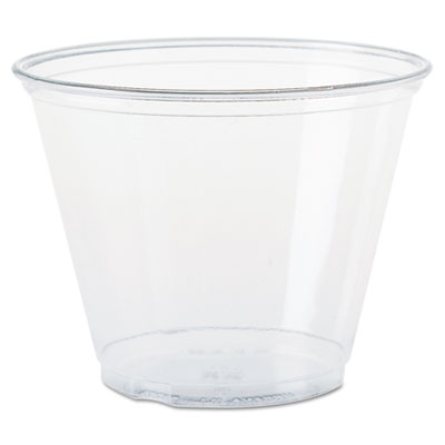 18-TP9R - Dart TP9R Ultra Clear Cups Squat 9 oz PET 50/Bag 1000/Carton