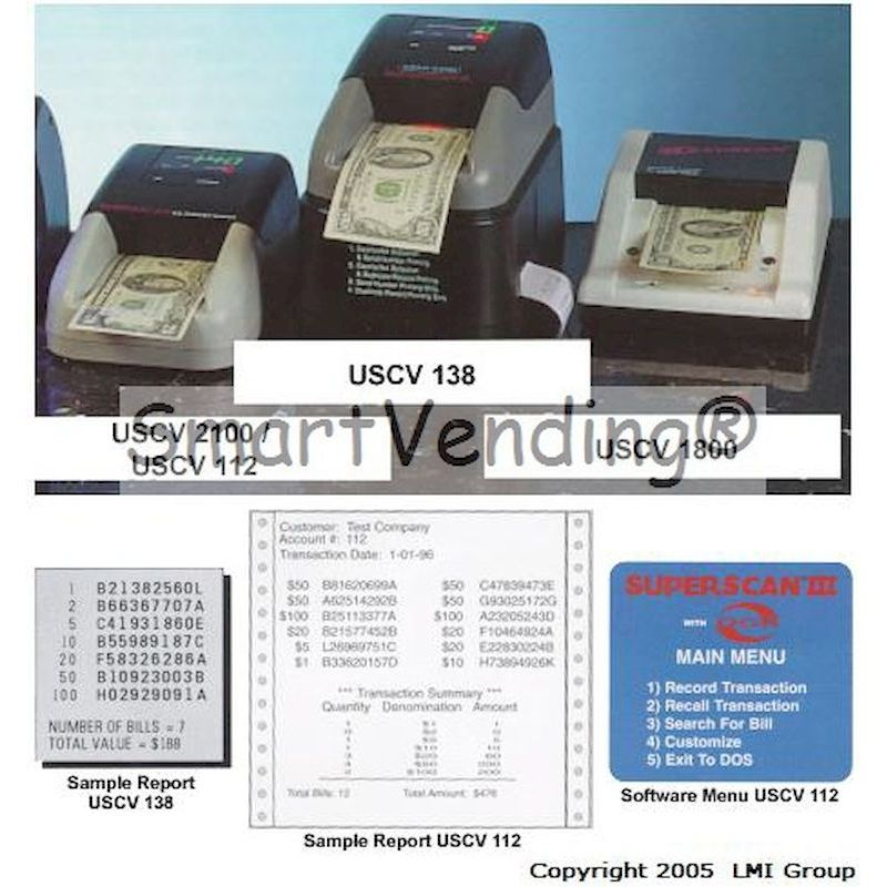 USCV - USCV Cash Scanner Product Line
