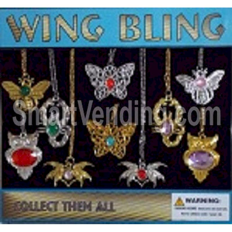 30-WGBLC2 - Wing Bling Necklaces 100% in 2 inch Capsules (250 ct.)