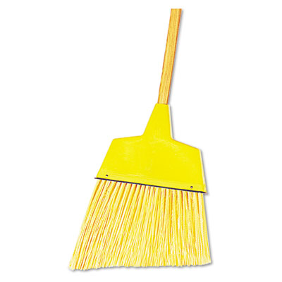 "Boardwalk Angler Broom Plastic Bristles 53"" Wood Handle Yellow"