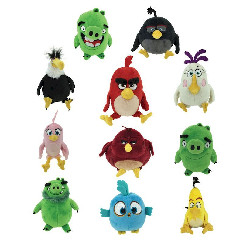 50-AGBD-6 - Angry Birds Movie Licensed Plush 100% Power Pack