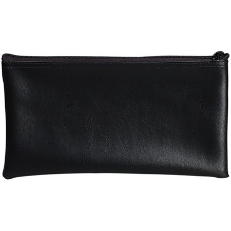 Black Vinyl Zipper Bag 11 x 6