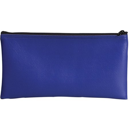Blue Vinyl Zipper Bag 11 x 6