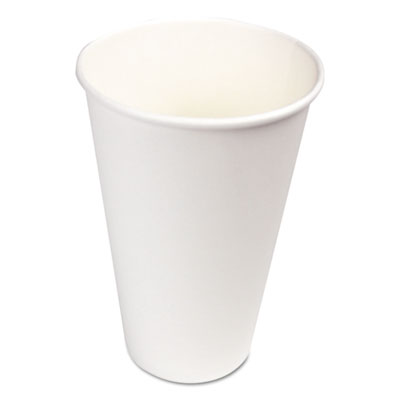 18-BKW16HC - Boardwalk White Paper Hot Cups 16 oz 1000/Carton