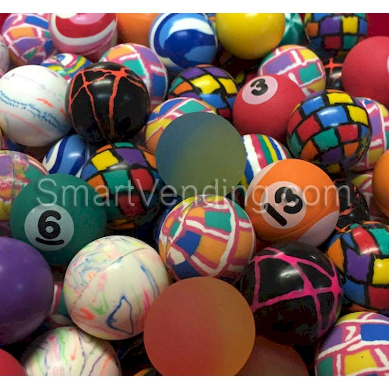 27MMGR - 27mm Assorted Bouncy Balls (144 ct) FREE SHIPPING!