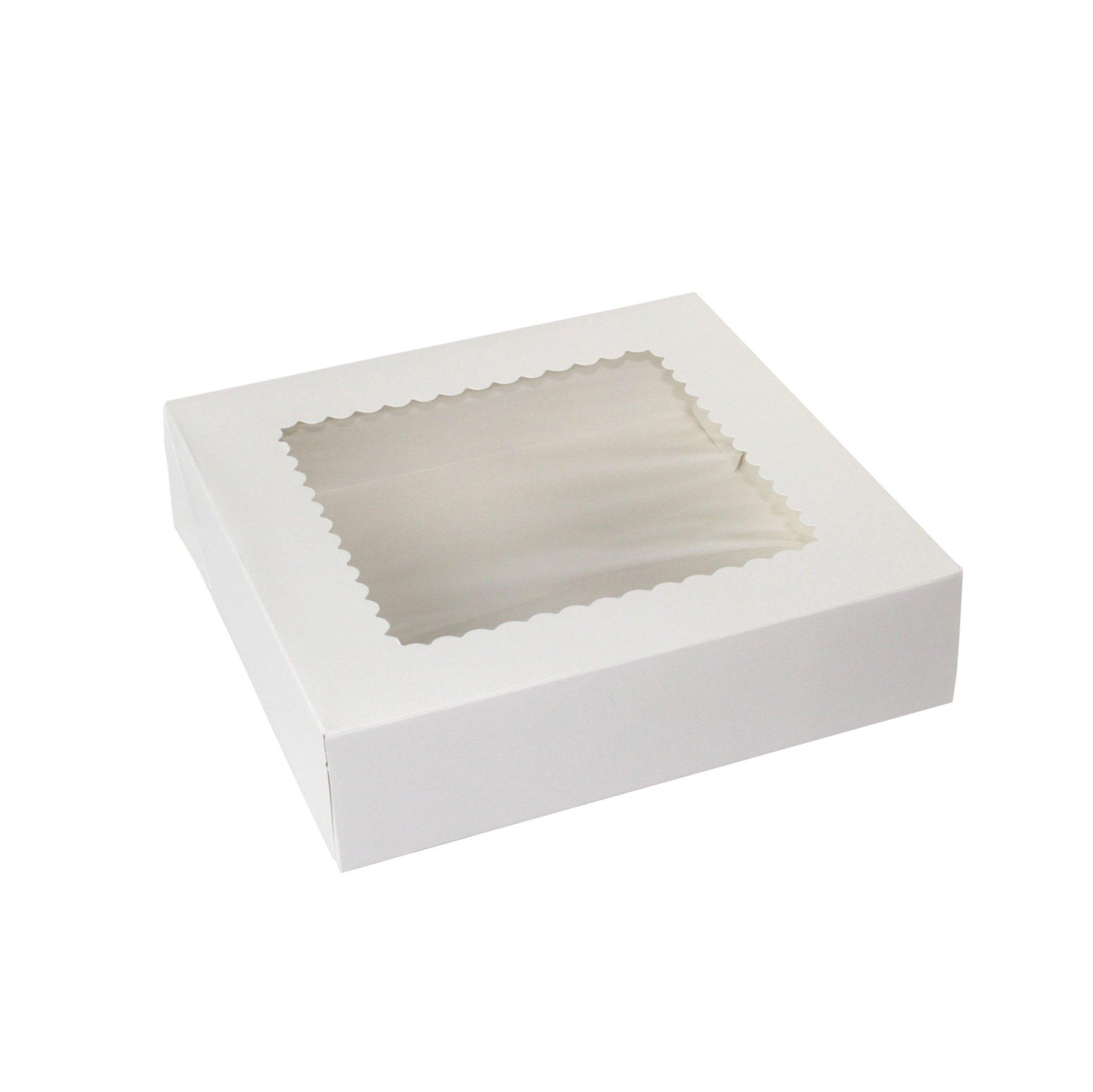 Boxit 10x10x2.5 White SBS Automatic Window Box, 4-Corner Beers 10102AW-126 - 150ct