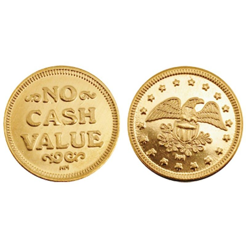 "Standard Brass Tokens .984"" X .060"" (1,000 ct.)"