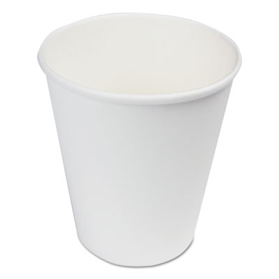 BWK Paper Hot Cups 8 oz White 1000/Carton