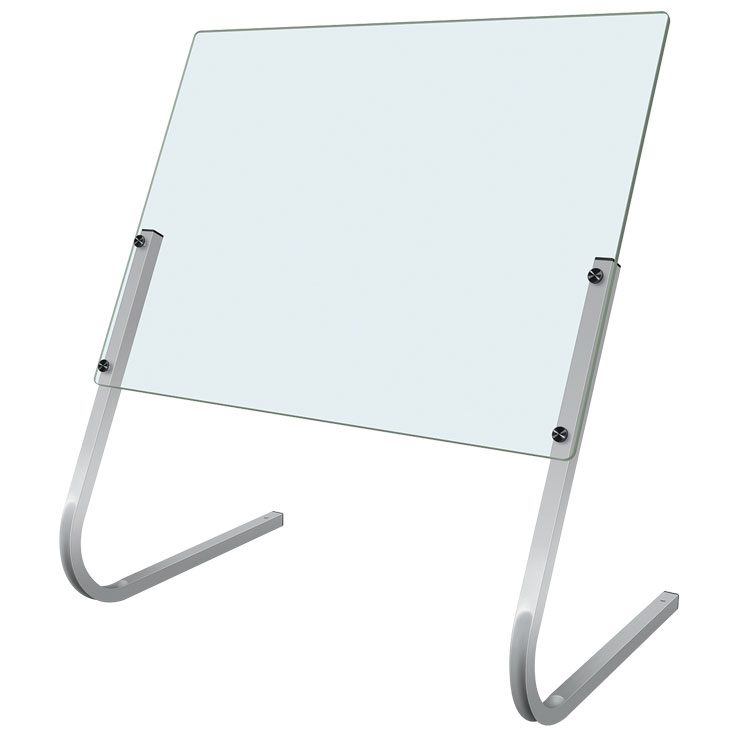 13-CS3236SP - Hatco Cashier Shield Acrylic with Stainless Steel Supports CS3236S