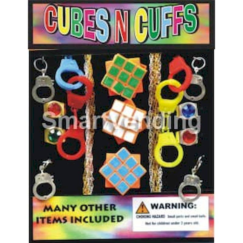 30-CBCFC1 - Cubes n' Cuffs Mix in 1.1 inch Capsules (250 ct.)