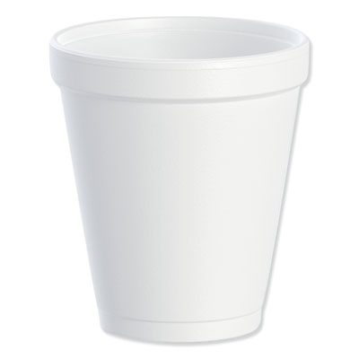 Dart 8J8 Foam Drink Cups 8oz White 25/Bag 40 Bags/Carton