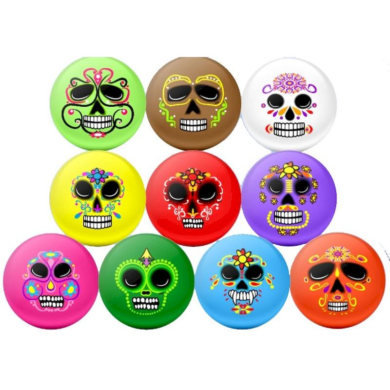 50-DODBL5 - Day of the Dead Inflatable Balls 5 inch (250 ct.)
