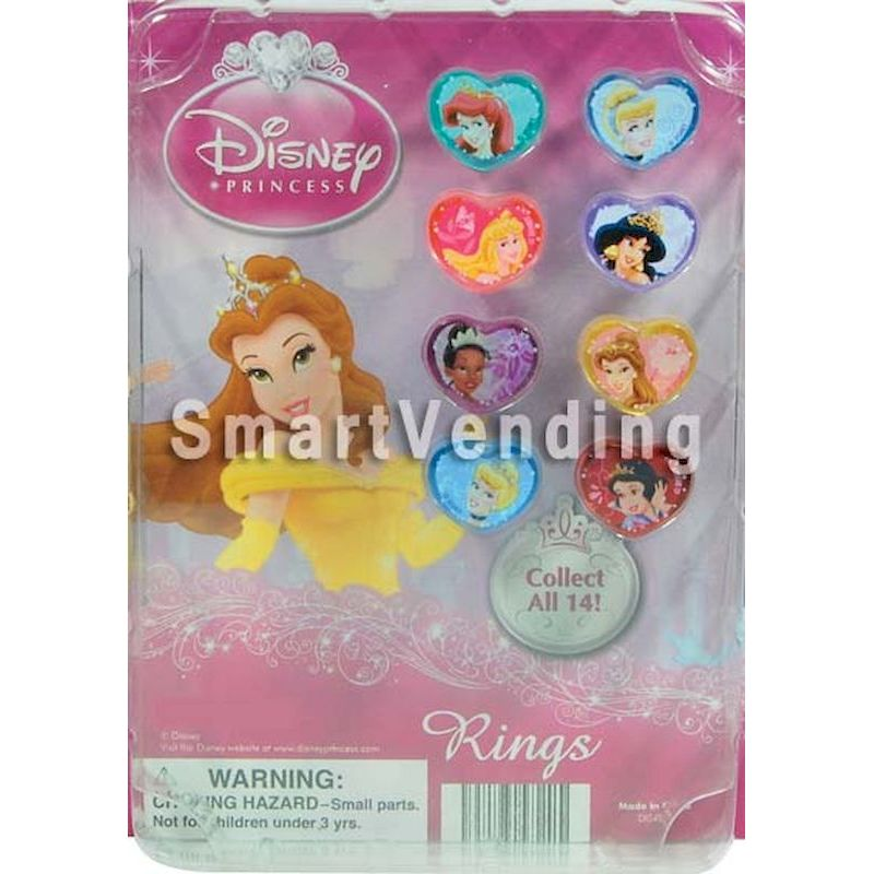 30-DISACRGC1 - Disney Princess Acrylic Rings in 1.1 inch Capsules (250 ct.)