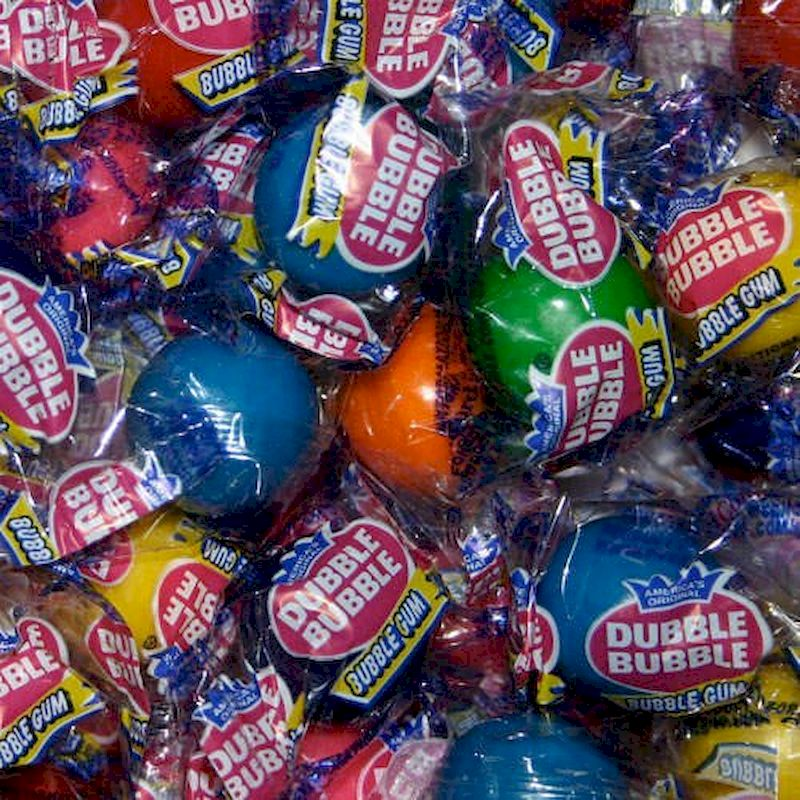 1112 - Dubble Bubble Gumballs Wrapped (850 ct.) 9.88 lbs. Net