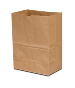 "Duro 1/8 BBL Shorty Scot Kraft Bags 10 1/8"" x 6 3/4"" x 14 3/8"" 57# 80083 - 500ct"