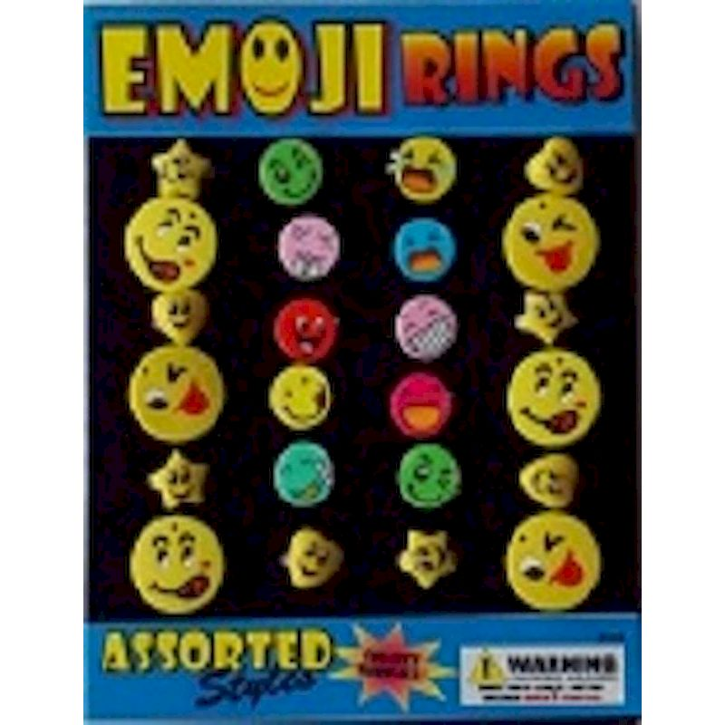 30-EMRGC1 - Emoji Rings in 1.1 inch Capsules (250 ct.)