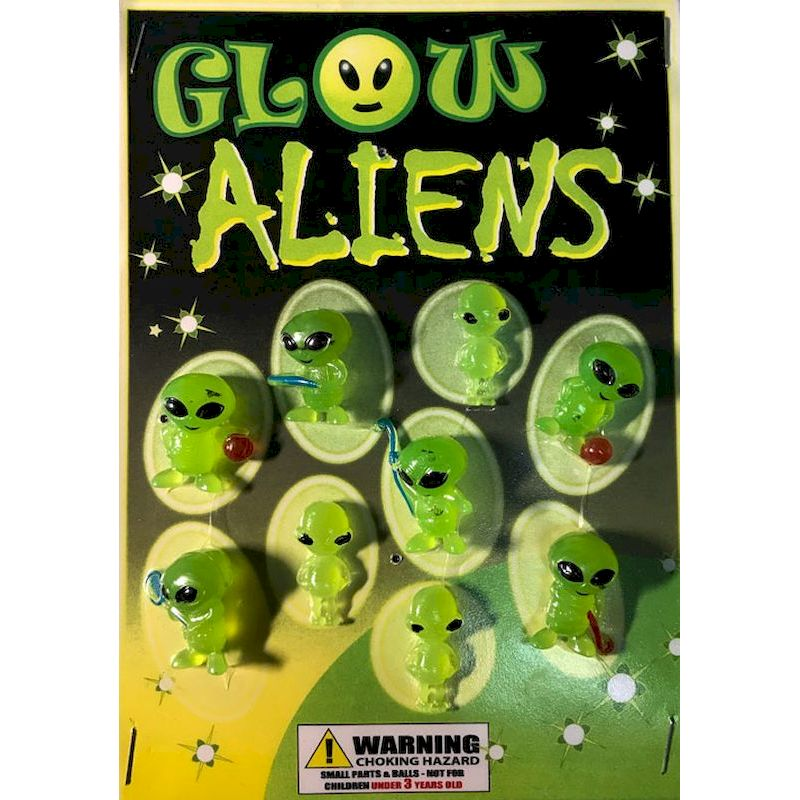 "30-GLALC1 - Glow Aliens Mix in 1.1"" Capsules (250 ct.)"