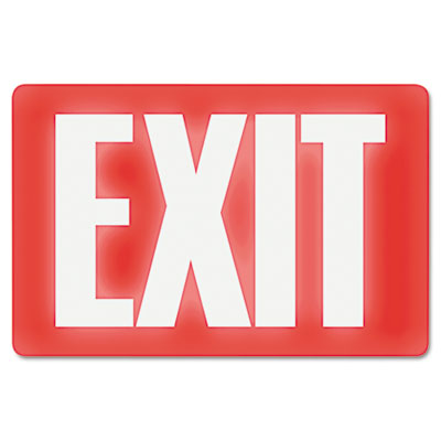 US Stamp & Sign Glow In The Dark Sign 8 x 12 Red Glow Exit