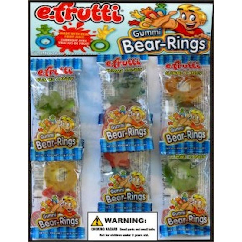 30-GBRGC1 - Gummi Bear Rings in 1.1 inch Capsules (250 ct.)