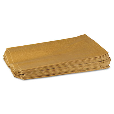 "Hospeco Napkin Receptacle Liners 7.5"" x 3"" x 10.5"" Brown 500/Carton"