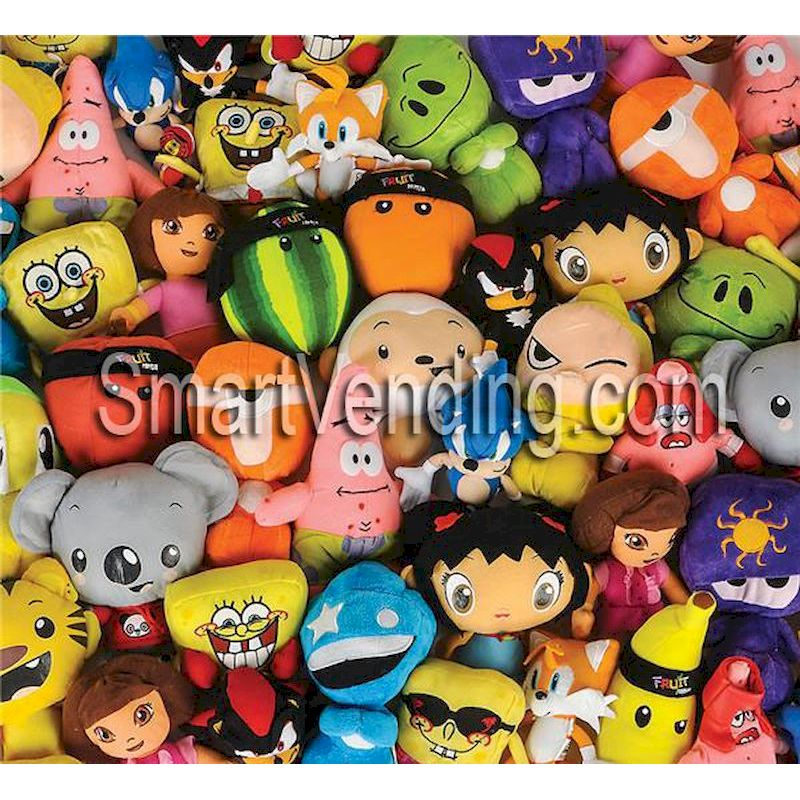 100% Licensed Plush Asst 7 to 9 inch (72 ct.) FREE SHIPPING!!!