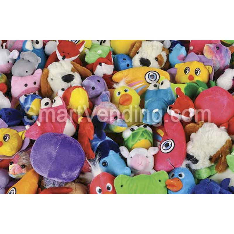 50-PLG59-144 - SmartVending General Mix Plush 5 to 9 inch (144 ct.) 1.09 Avg - TOP SELLER - FREE SHIPPING!!!