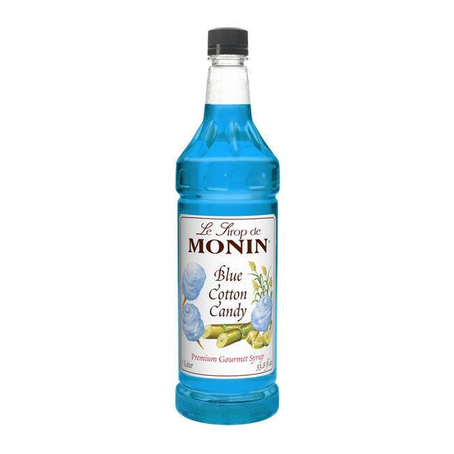 Monin Blue Cotton Candy Syrup PET 1-liter