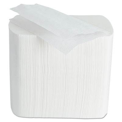 MORCON Interfold Dispenser Napkins, 1-Ply, White, 6.5 x 8.25, 6,000/Carton