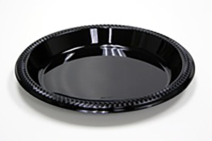 Pactiv Impact Black Plastic Plate 9 - 4/100ct
