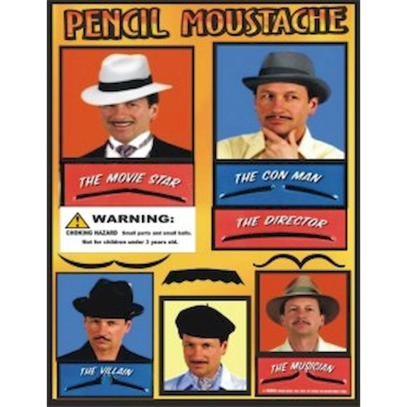 30-PEMUC1 - Pencil Mustache Mix in 1.1 inch Capsules (250 ct.)