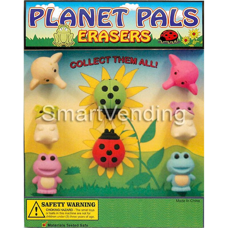 "30-PPERC1 - Planet Pal Erasers in 1.1"" Capsules (250 ct.)"