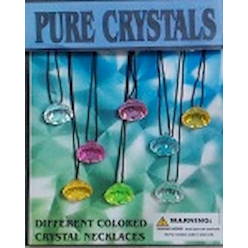Pure Crystals Necklaces in 1.1 inch Capsules (250 ct.) FREE DISPLAY