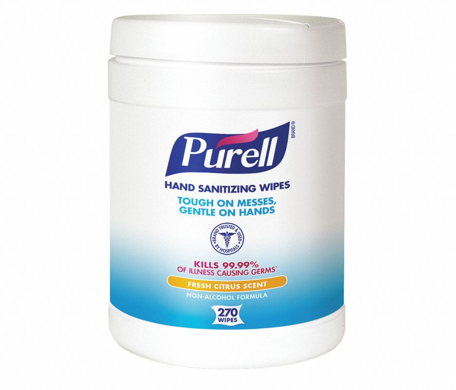 18-911306E - PURELL® Hand Sanitizing Wipes 270 Count Eco-Fit Canister